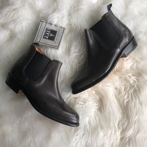 Frye Shoes - Frye • Chocolate Brown Ankle Booties